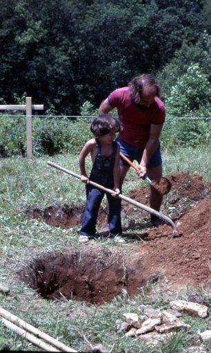 Digging holes for pier footings